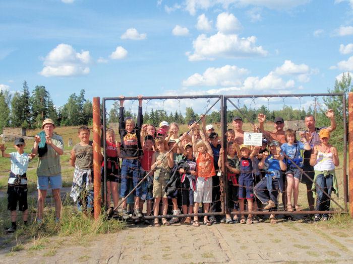 Sportinė stovykla prie Platelių ežero 2008 07