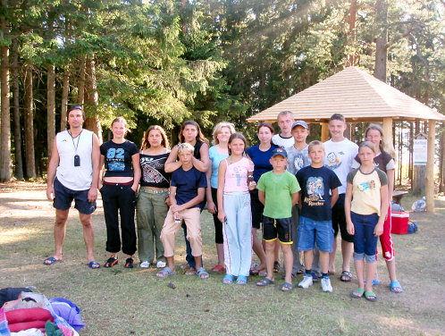 Sportinė stovykla prie Platelių ežero 2009 07